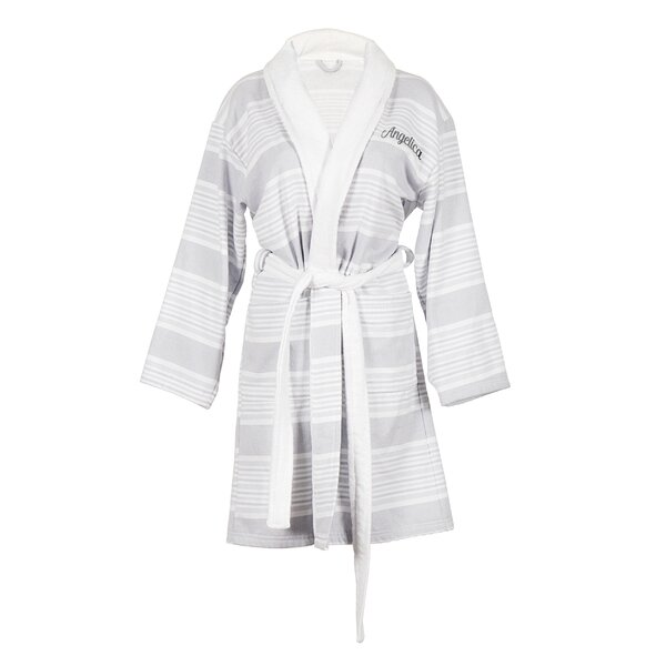 Personalized 100% Cotton Turkish Terry Cloth Bathrobe by Cathys Concepts